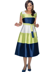 Navy/Lime Dress, Dorinda Clark Cole DCC Rose Collection
