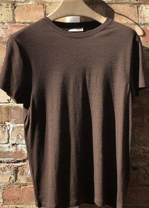 Hand Me Down - Merino Coffee Bean T-shirt - King & Tuckfield