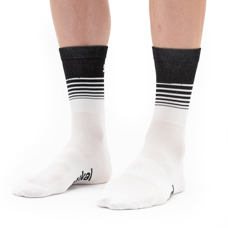 Unisex Segments Socks - White