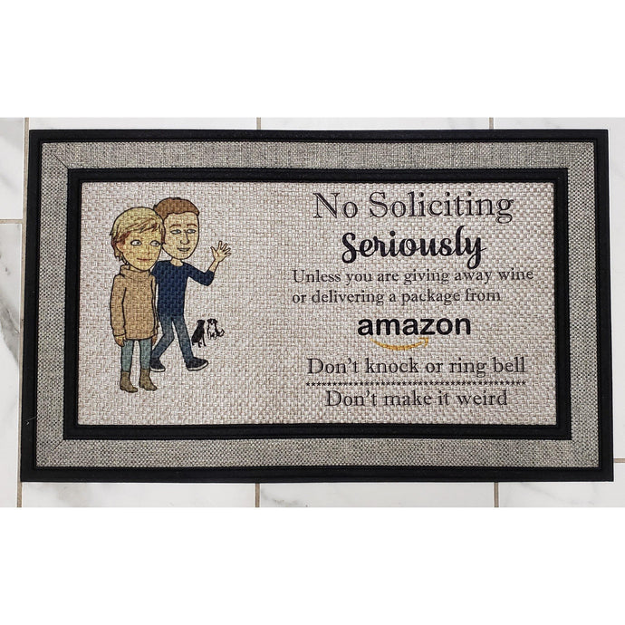 No Soliciting Door Mat - Personalized