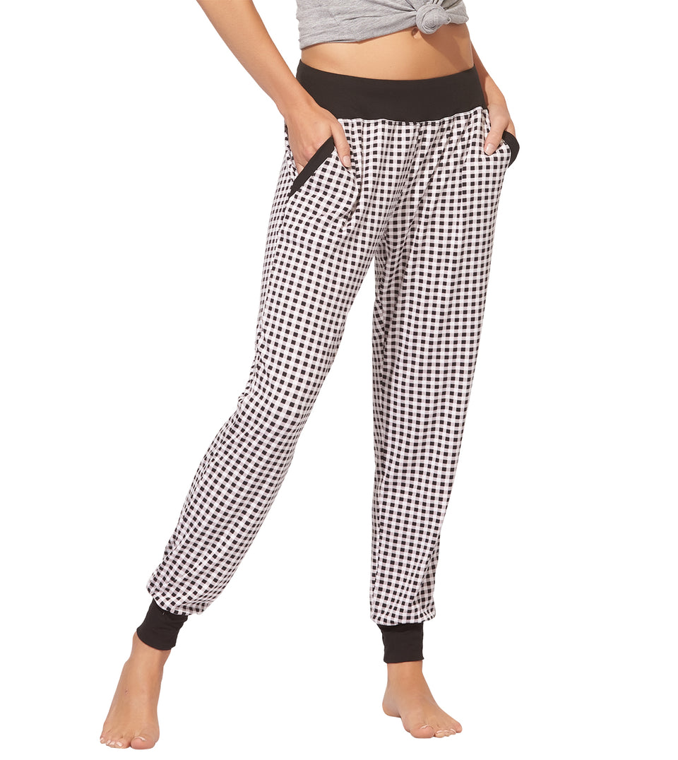 Iris Pant in MINI GINGHAM