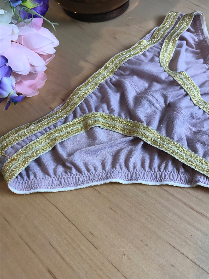 Rose Gold Blush Pink with Gold Bikini Scrunch Butt Panties XS-3X Low Rise Pastel Lingerie Bridal Wedding Aesthetic