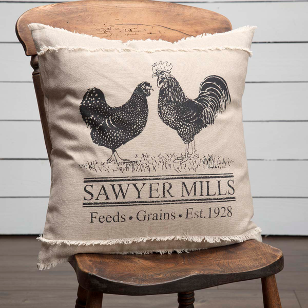 Sawyer Mill Poultry Charcoal Pillow