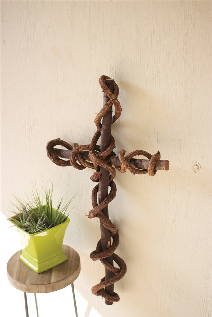Rustic Curly Vine Cross
