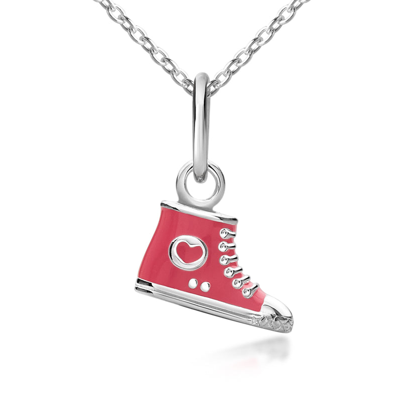 Children's Shoe Pendant - High Top Necklace