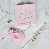 Children's Flower Pendant & Necklace - Silver Jewellery Gift Box