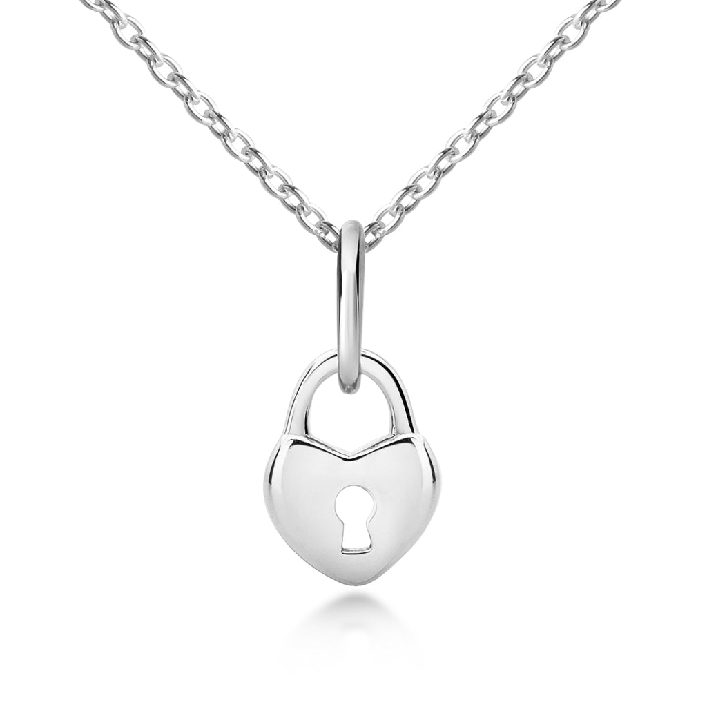 Sterling Silver Children's Lock Pendant