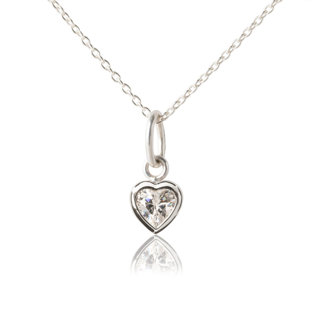 Children's Heart Pendant in sterling silver