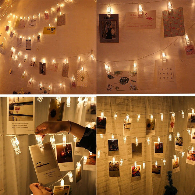 Photo Clip String Lights     FREE SHIPPING - limited time only!