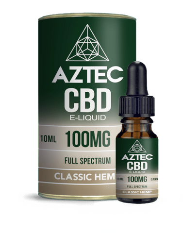 Aztec CBD 10ml / 100mg Aztec Classic Hemp Full Spectrum CBD E-Liquid