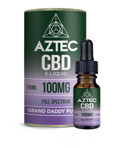 Aztec CBD 10ml / 100mg Aztec Grand Daddy Purple Full Spectrum CBD E-Liquid