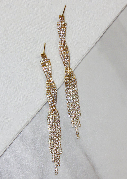 SPARKLE TWIST EARRINGS - Jules Smith - 14K Gold Plated - Boho Jewelry