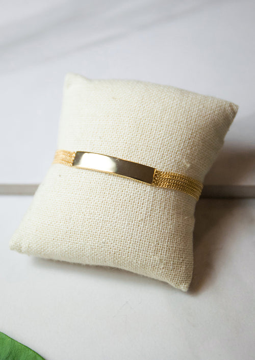 Jules Smith 14K Plated Classic ID Bracelet