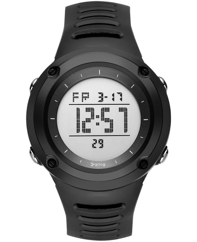 Digilog Suave Activewear Black Digital Multifunction Watch for Men & Boys