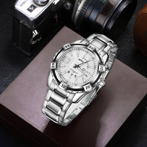Wrath Charming Silver Day & Date Luxury Men's Watch