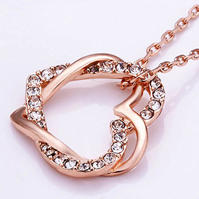 Addic Perfect Gift Rose Gold Watch & Stunning Pendant Combo - (Perfect for Valentine's Gift/Anniversary Gift/Birthday Gift/Proposal Gifts)