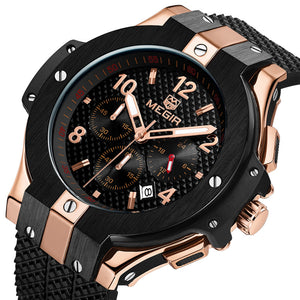 Megir Commander Rose Gold Luxury Chronometer Watch For Men & Boys