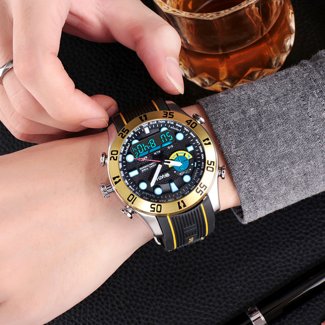 Wrath Luxe Gold Analog & Digital Luxury Watch For Men & Boys