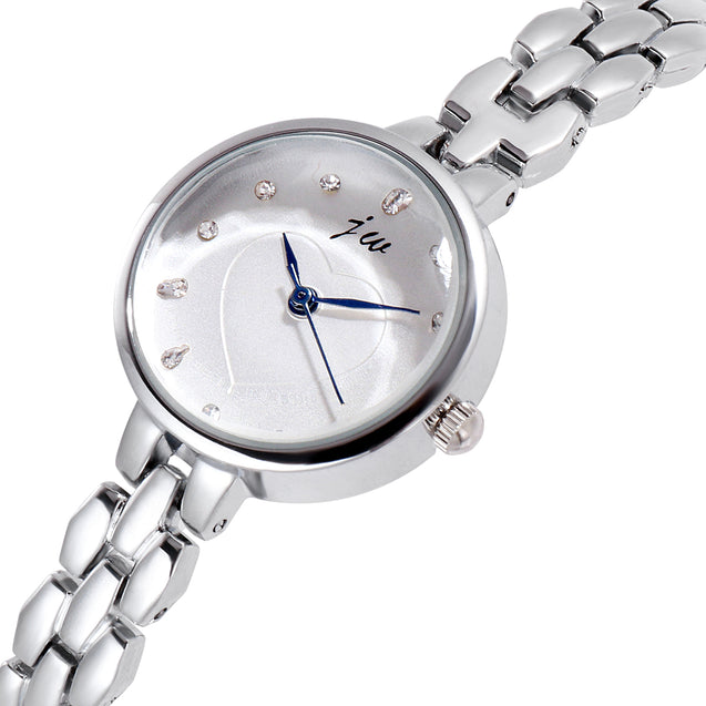Addic Blush Subtle Heart Silver Watch For Girls & Women's