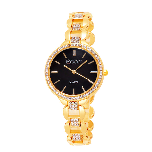 Modor Modern Classy Gold Wrist Watch For Women & Girls