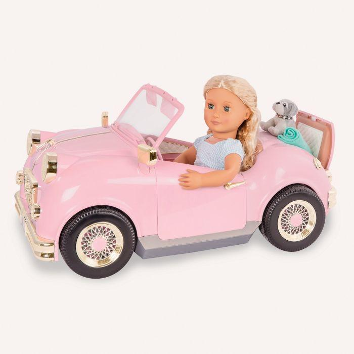 "Our Generation Retro Car for 18"" Doll is an amazing doll accessory for creative play for young girls."