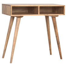Load image into Gallery viewer, Solid Wood Nordic Writing Desk With 2 Open Slots