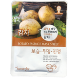 Natureby Potato Essence sheet mask lightens dark spots and pigmentation, working well as a skin brightener and lightens skin discolorations. Potato has skin bleaching properties help to clear blemishes and reduces acne inflammation.