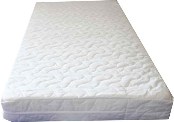 Classic Design - Foam Cot Mattress  -  Safetex Protective Liner  - Sea-Flower Cover - Cot Mattress Company