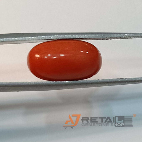 7.07ct Natural Red Coral Certified by IGL