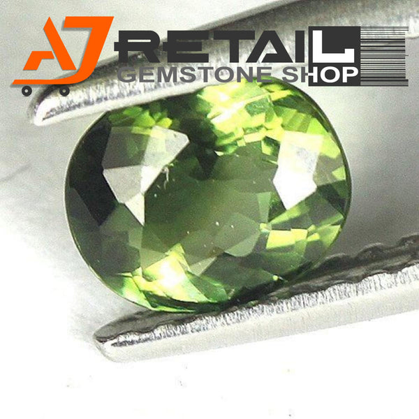 Aj Retail 6.05 Ct Green Tourmaline Loose Gemstones/ Hight quality tourmaline stone buy online in Kolkata, West Bengal - 1 Mukhi Rudraksha