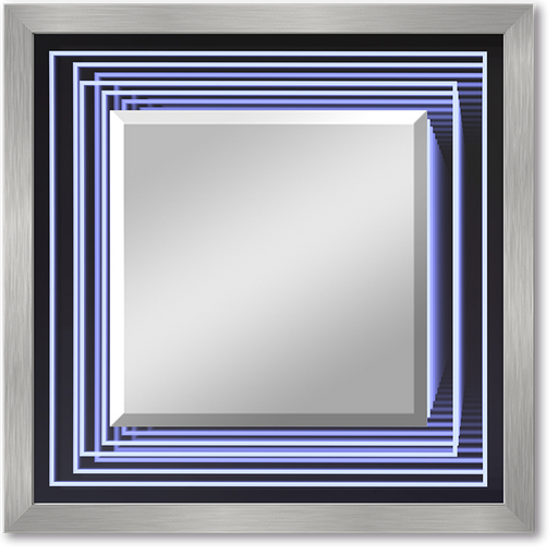 """Infinity Squares"" Lighted Square Mirror"