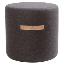 Load image into Gallery viewer, Sara- Round Wool Pouffe in Black