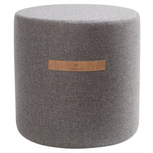 Load image into Gallery viewer, Sara- Round Wool Pouffe in Granite