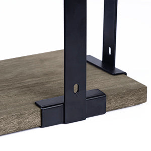 Love-KANKEI Corner Shelf Wall Mount of 3 Weathered Grey
