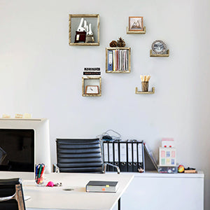 Love-KANKEI Floating Shelves Wall Mounted  Set of 6