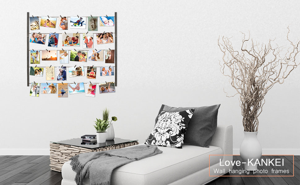 Love-KANKEI Hanging Display Photo Frames Weathered Grey