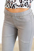 All The Sassy Moto Jeggings, Gray