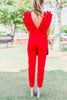What A Babe Jumpsuit, Red