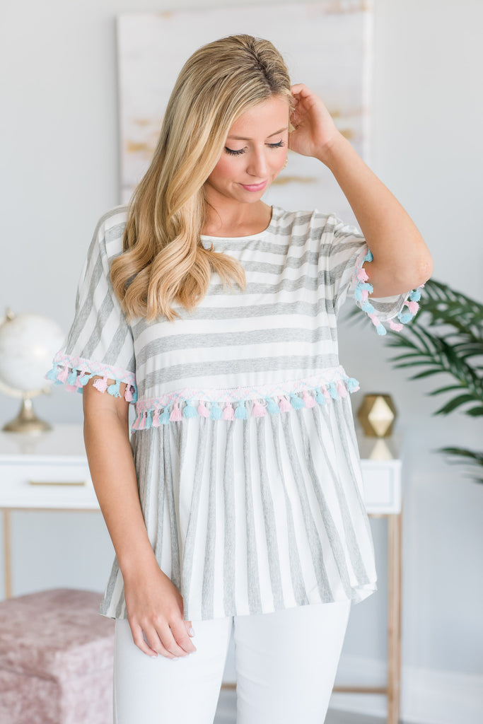 All The Love Top, Heather Gray