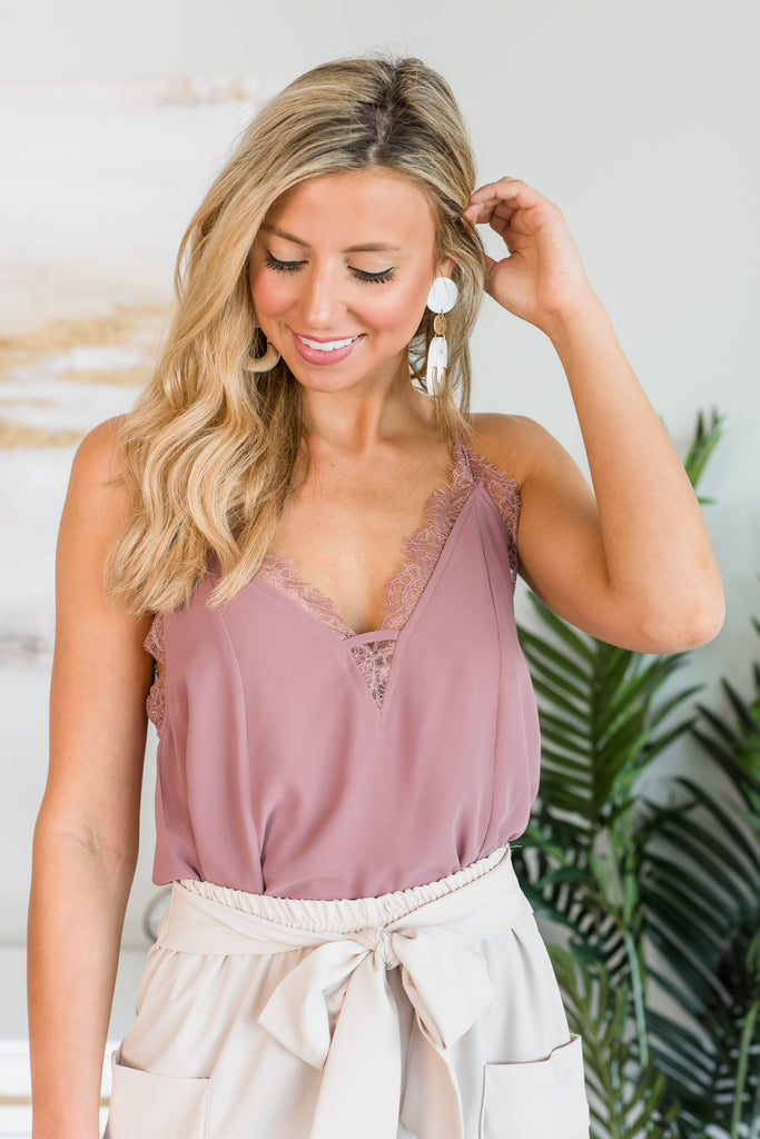 Lovely In Love Tank, Mauve