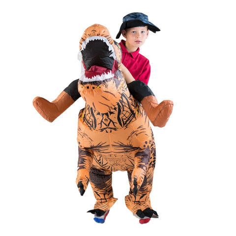 Kids Inflatable Lift You Up Deluxe Dinosaur Costume