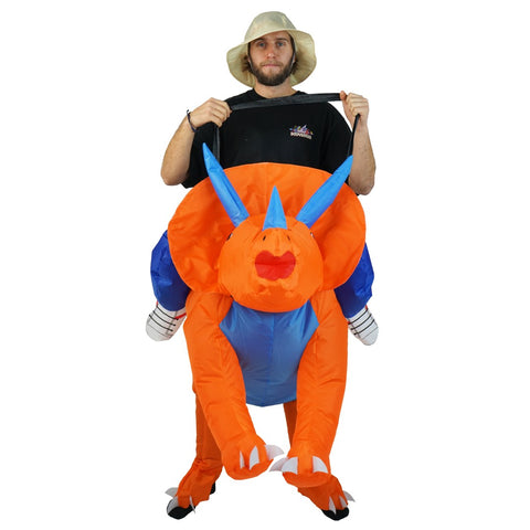 Inflatable Triceratops Costume