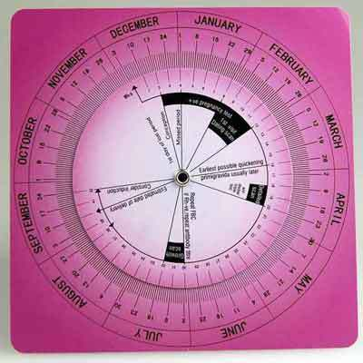 obstetric calculator wheel for doctors and midwives