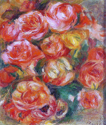 Pierre Auguste Renoir A Bowlful of Roses - Hand Painted Oil Painting