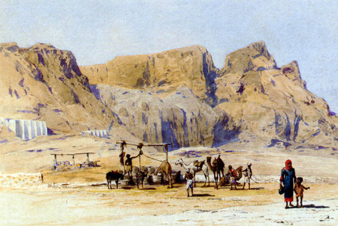 Charles Wilda A Camel Train At Aden - Hand Painted Oil Painting