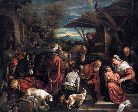 Francesco Bassano Adoration of the Magi - Hand Painted Oil Painting
