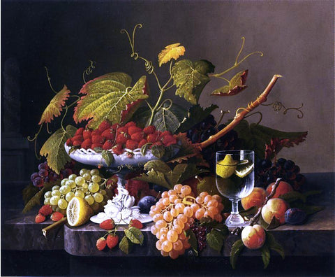 Severin Roesen An Abundance of Fruit - Hand Painted Oil Painting