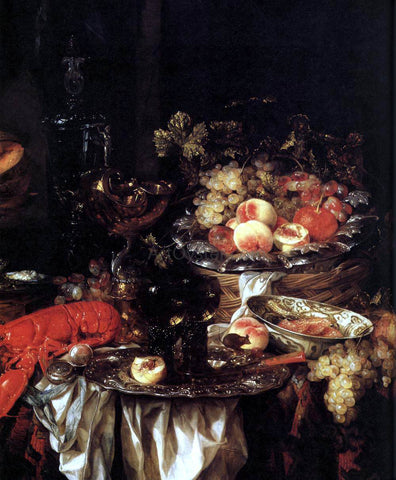 Abraham Van Beyeren Banquet Still-Life with a Mouse (detail) - Hand Painted Oil Painting
