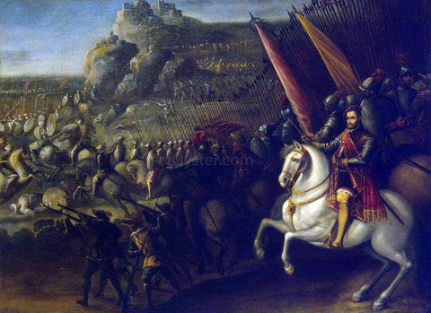 Juan De la Corte Battle - Hand Painted Oil Painting