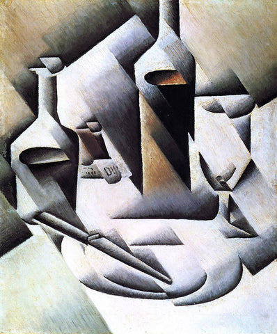 Juan Gris Bottles and Knife - Hand Painted Oil Painting